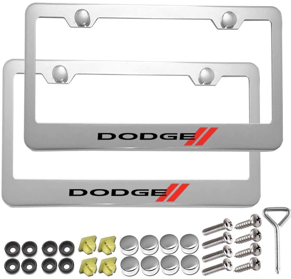Carsport 2 Pcs Premium Aluminum Alloy License Plate Frame fit D0DGE, for D0DGE Tag License Plate