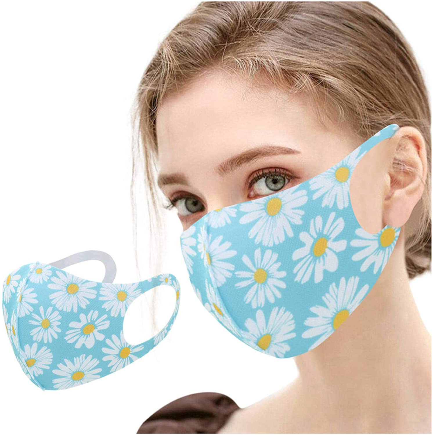 Selinora Printed Cotton Face_Masks Reusable Cloth Fabric,Adult Printing Face Protection Fashion Balaclava for Women Men