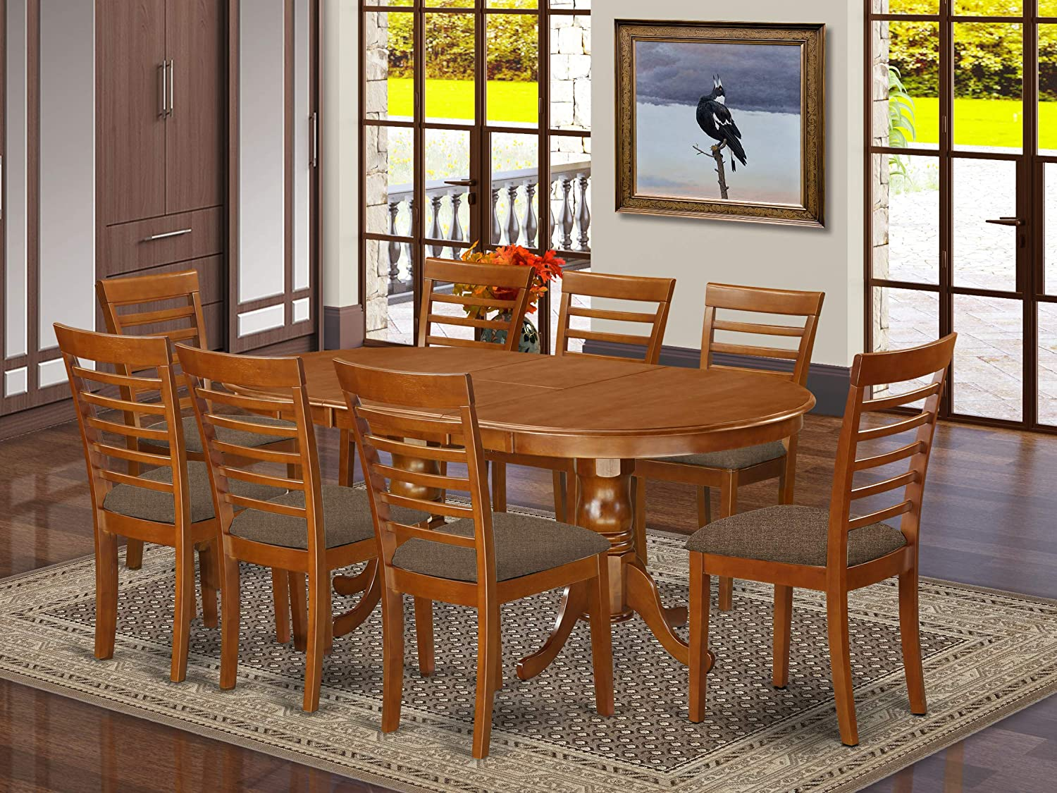 9 Pc Dining room set-Dining Table plus 8 Dining Chairs