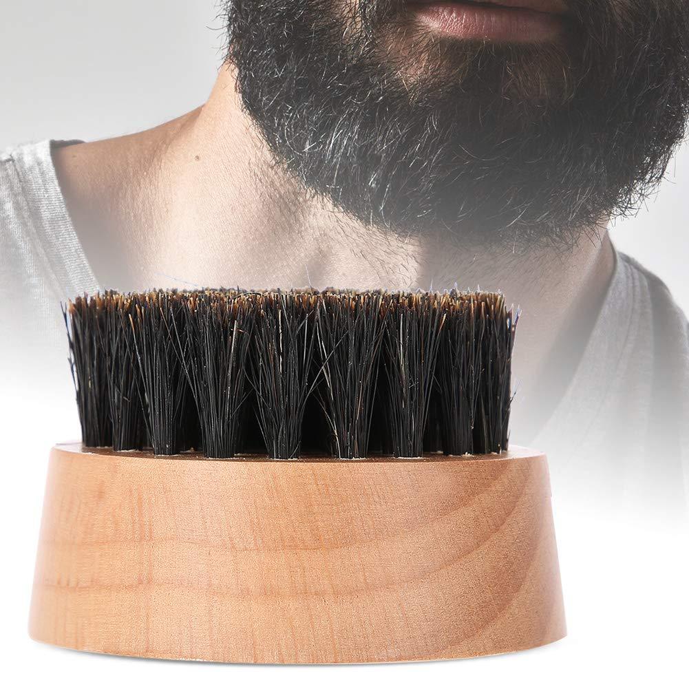 Men Faux Boar Hair Wood Handle Beard Cleaning Shaving Shaping Brush