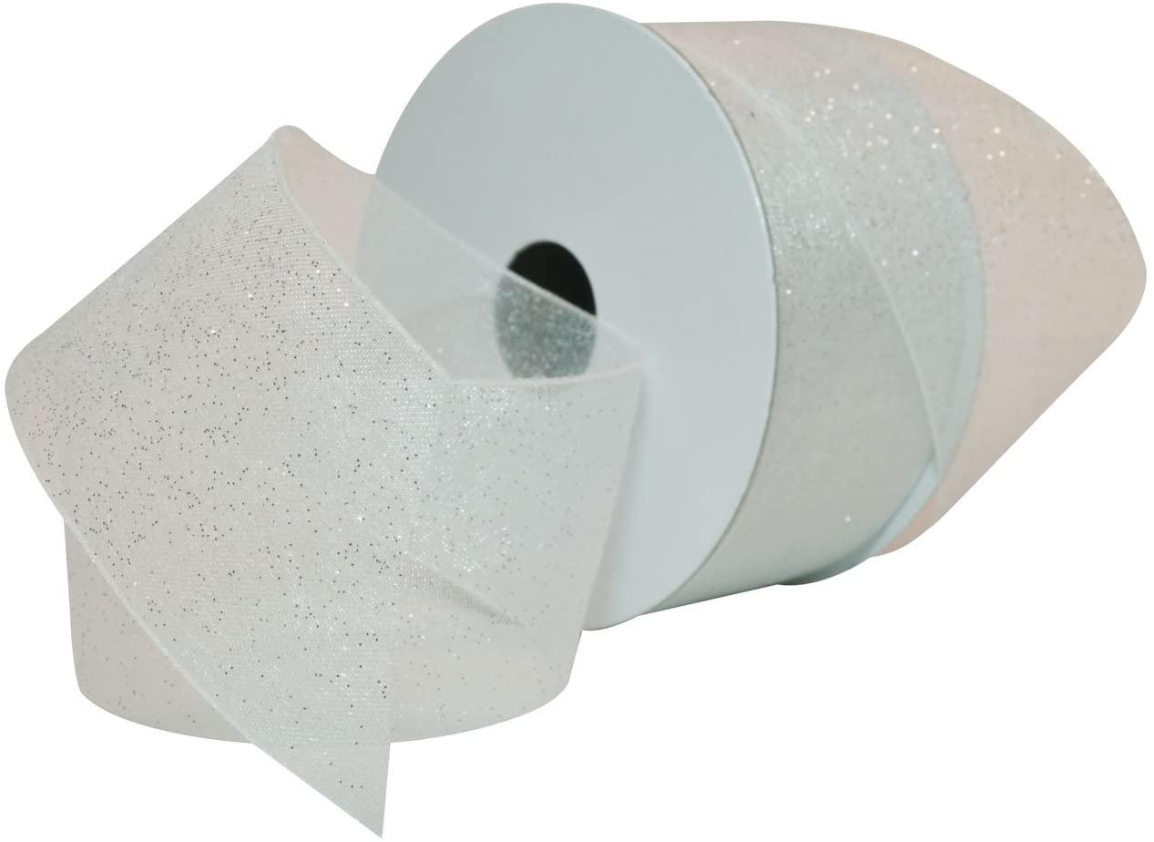Morex Ribbon Sugar Sheer Organdy Ribbon, 1-1/2-Inch by 25-Yard, White