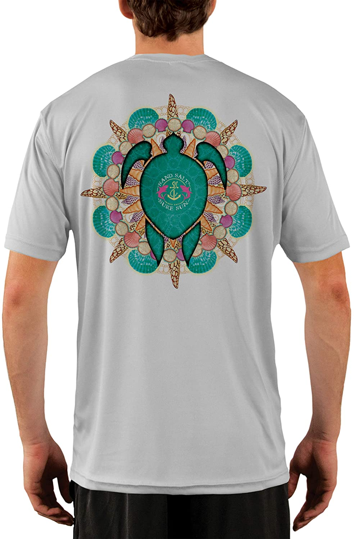 SAND.SALT.SURF.SUN. Turtle Shells Men's UPF 50+ UV Sun Protection Performance Short Sleeve T-Shirt