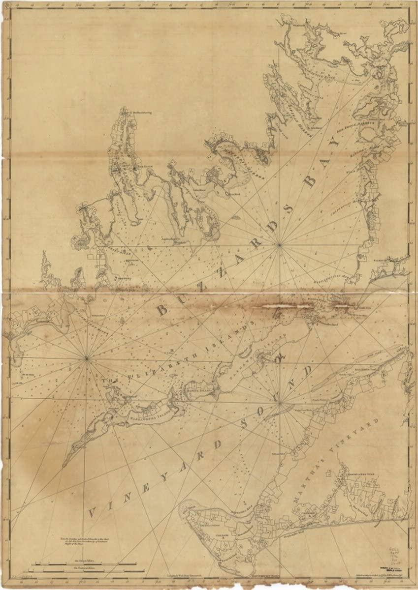 INFINITE PHOTOGRAPHS Map: 1776 Chart of Buzzards Bay and Vineyard Sound|Buzzards Bay|Buzzards Bay Bay|Buzzards Bay Mass : Bay|Massachusetts|Nautical Charts|Vineyard Sound|Vineyard Sound Mass