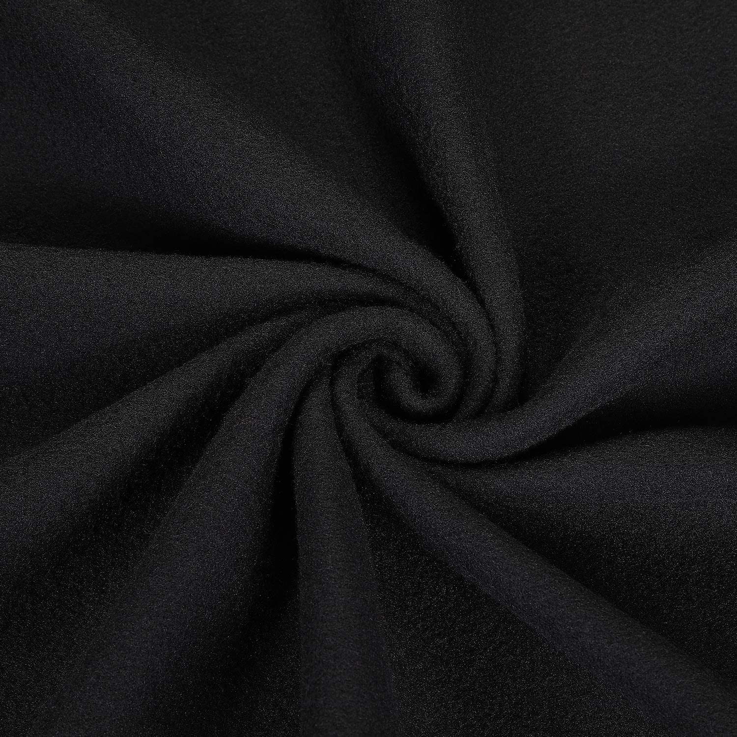 Solid Fleece Fabric 30 Inch Anti-Pill Fleece Fabric Square 75 cm Crafts Polar Fabric Fleece Double Brushed Fleece Fabric for DIY Sewing Christmas Party Festival Decorations (Black)