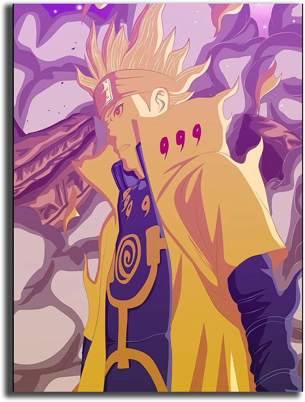 Coobal Naruto, Anime Naruto, Naruto Uzumaki 3D Paintings Ready to Hang Piece Modern Home Decor, Ready to Hang 12x16 inch