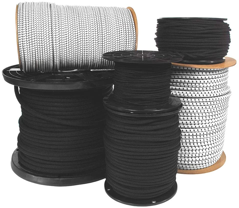 Paracord Planet Shock Cord (1/4 inch) – Bungee Cord – Hammocks, Cargo Nets, Crafting Projects, Bungee Straps – DIY Cord – (500 Feet Black)