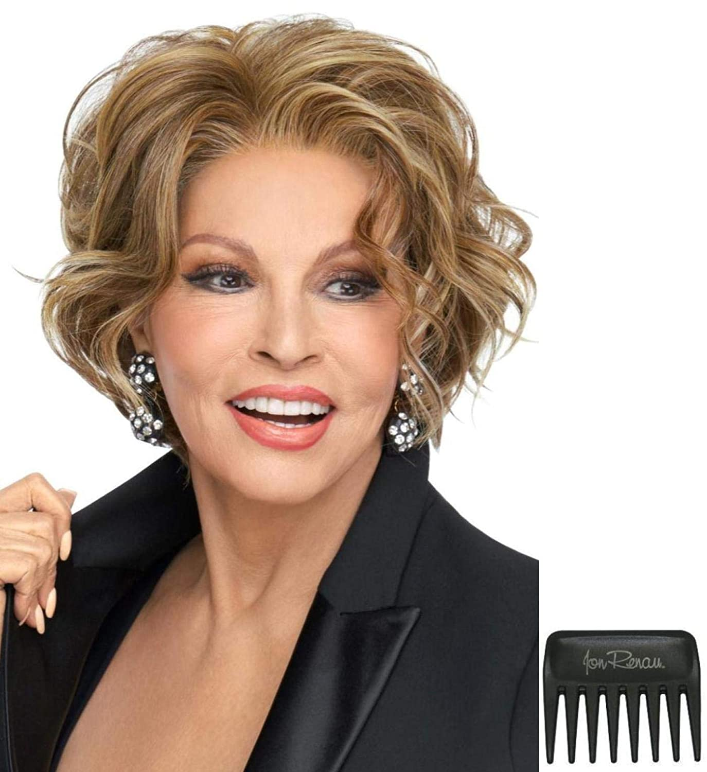 Bundle - 3 Items: Going Places Wig by Raquel Welch, Christy's Wigs Q & A Booklet & Wide Tooth Comb - Color: RL1425