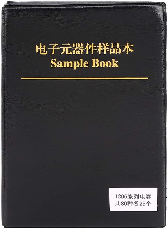 Resistance Sample Book 1206 Series 80 Value Capacitors Assortment Kit Electron Components Sample Book Kit Black