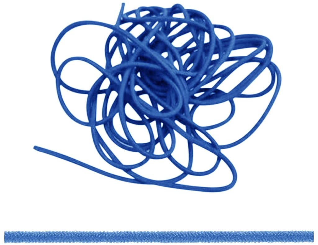 BangJian Elastic Band 3mm Thin FINE Round Elastic Stretch Bungee Shock Cord 11 Colours Length 5M Strong & Durable