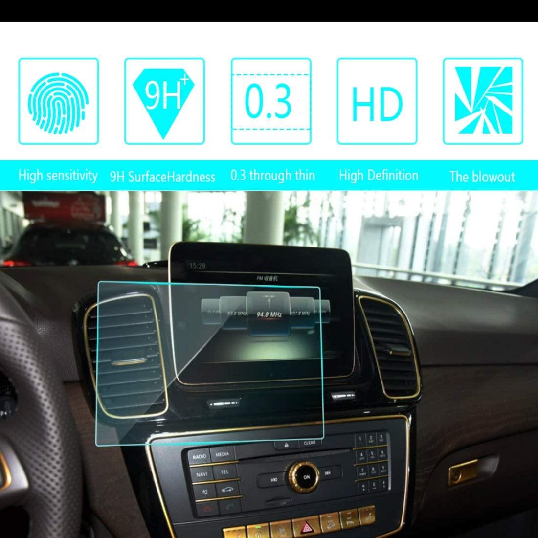 for Mercedes Benz GLE 320 350 400 450 2015 2016 2017 Car Screen Tempered Film Navigation Screen Protector HD Clear 9H Hardness Anti-Fingerprint Anti-Scratch