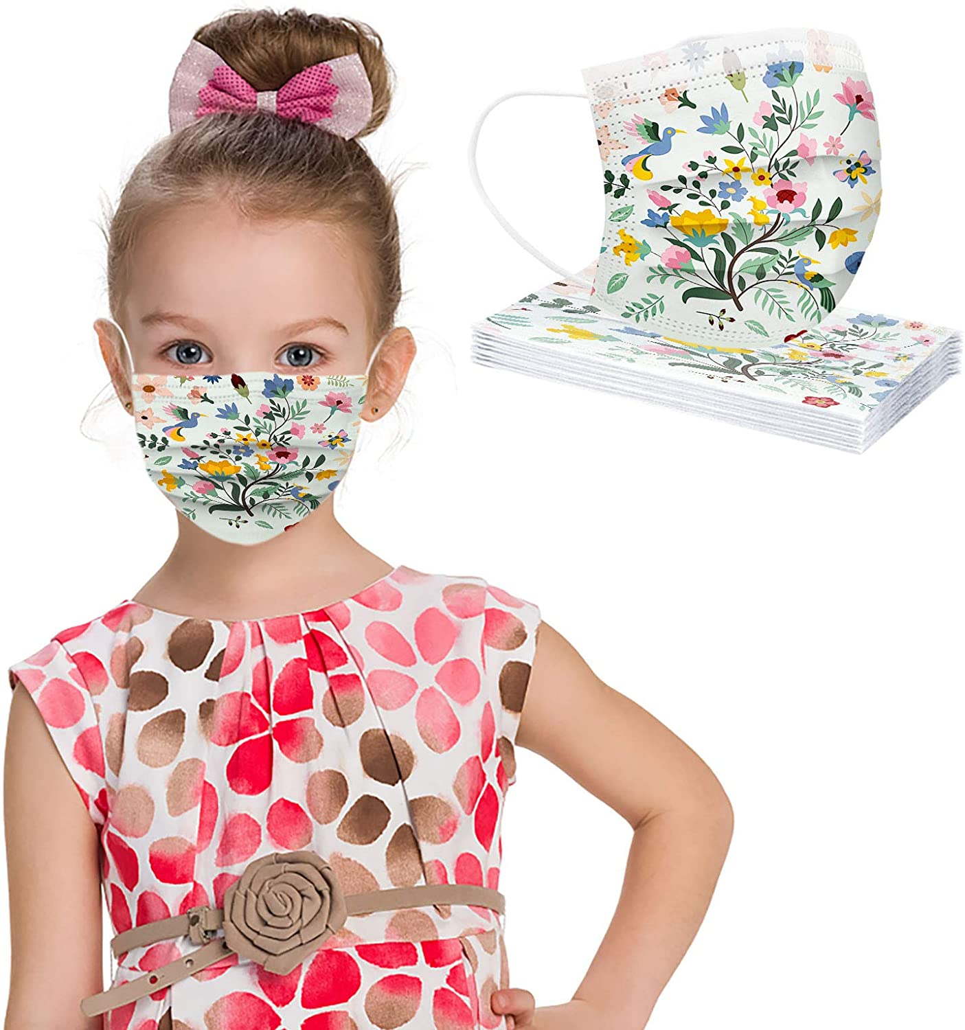 Giveyo US Stock Child Fashion Camouflage Face_Mask Protection Breathable Face_Mask 10PC (F)