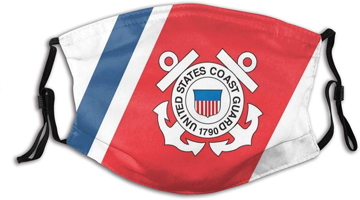 US Coast Guard USCG Fashionable Protective Face Mask Scarf Mouth Balaclava Reusable Adjustable Washable Outdoors
