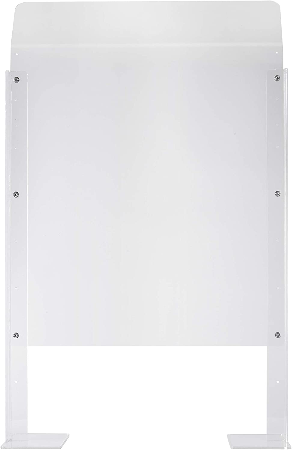 """Sneeze Guard Protection Shield Barrier for Counter, Store, or Desk – Adjustable Height Acrylic – 24"""" Clear Shield"""