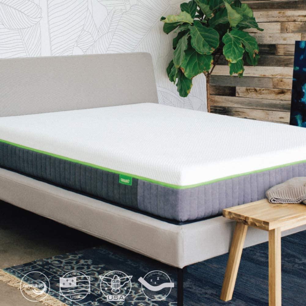 Cariloha Luxury Bamboo Mattress - Advanced Side-Wedge Support Signature Bamboo Comfort Foam - Luxury Memory Foam - Flex Flow Dual Density Base Foam - 10 Year Warranty (Twin)