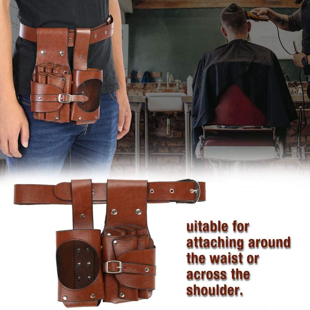Brown Hair Styling Tools Hairdressing Holder, Detachable Belt Scissor Bag, for Barber for Hairdresser