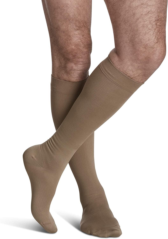 SIGVARIS Men's Style Microfiber 820 Closed Toe Calf-High Socks 20-30mmHg
