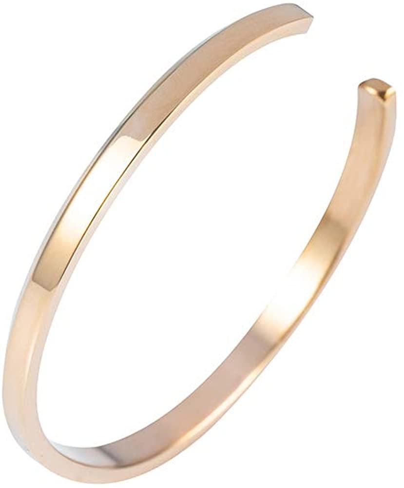 Tigerstar Titanium Steel Plated Round Shape Infinity Bracelets for Women | Titanium Steel Cuff Bracelet for Women