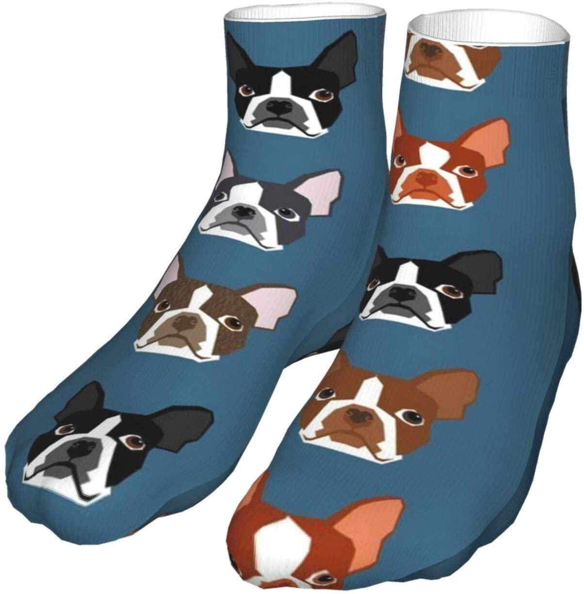 antcreptson Boston Terriers Blue Faces Compression Socks for Women & Men 40mmhg-Pvendor Athletic Nursing Stocking for Running, Flight, Travel, Nurses, Edema Stockings Nursing