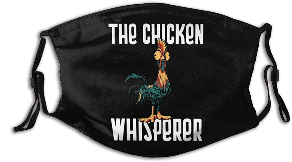 Jamychalsh The Chicken Whisperer Face Mouth Mask Windproof Dust Protection Cover Scarf Bandana Adult Men and Women