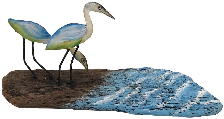 Beachcombers Driftwood Double Crane Table Decor Accent Wood Ocean Sea Life Nautical Coastal 12x4x6
