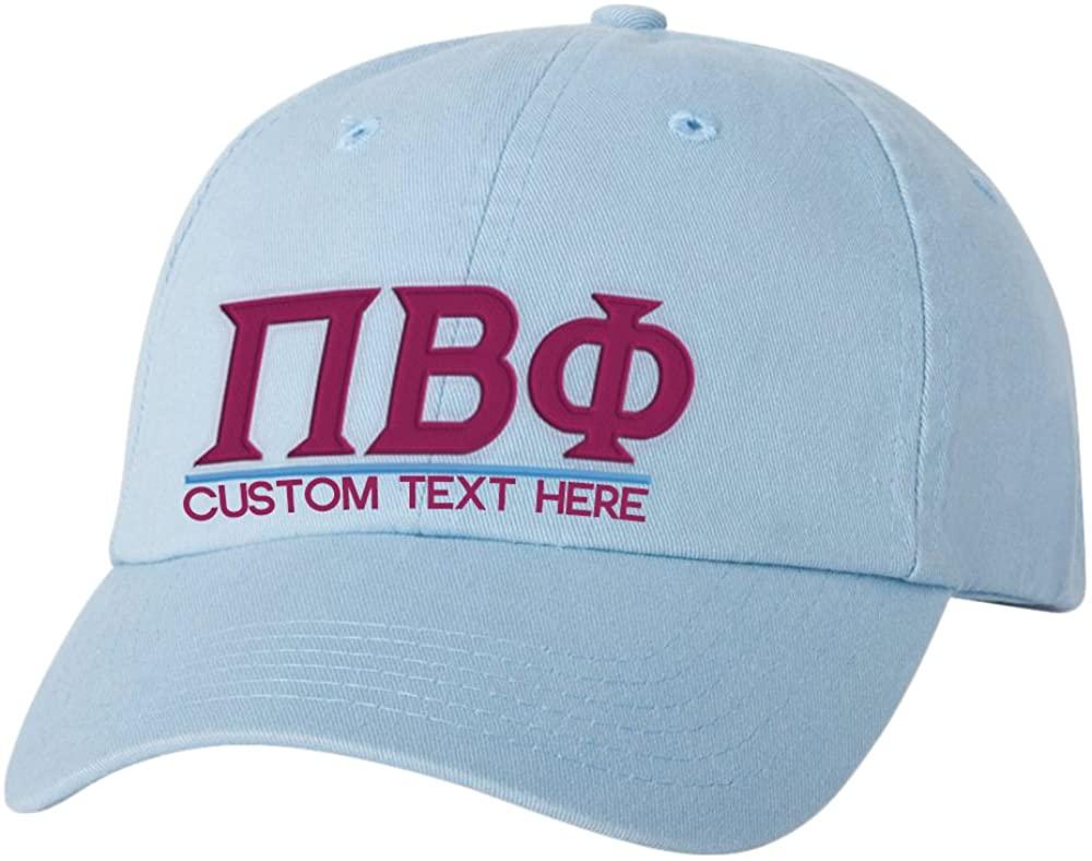 Personalized Pi Beta Phi Greek Line Hat