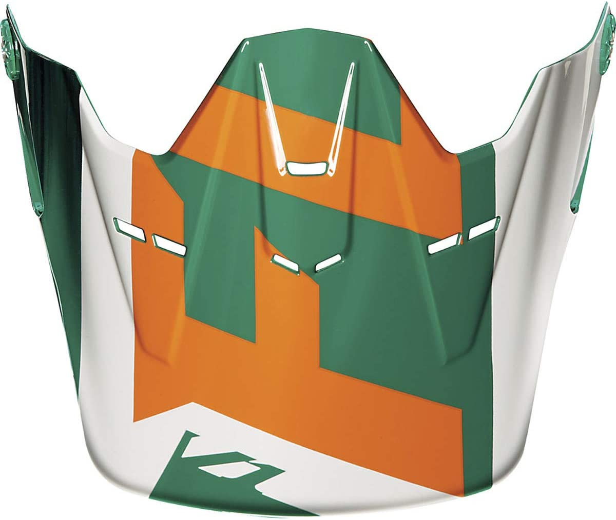 Fox Racing Vandal Visor Youth MX15 V1 Off-Road Motorcycle Helmet Accessories - Green/Orange/No Size