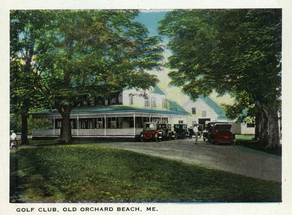 Old Orchard Beach, Maine - Golf Club Exterior (12x18 Art Print, Wall Decor Travel Poster)
