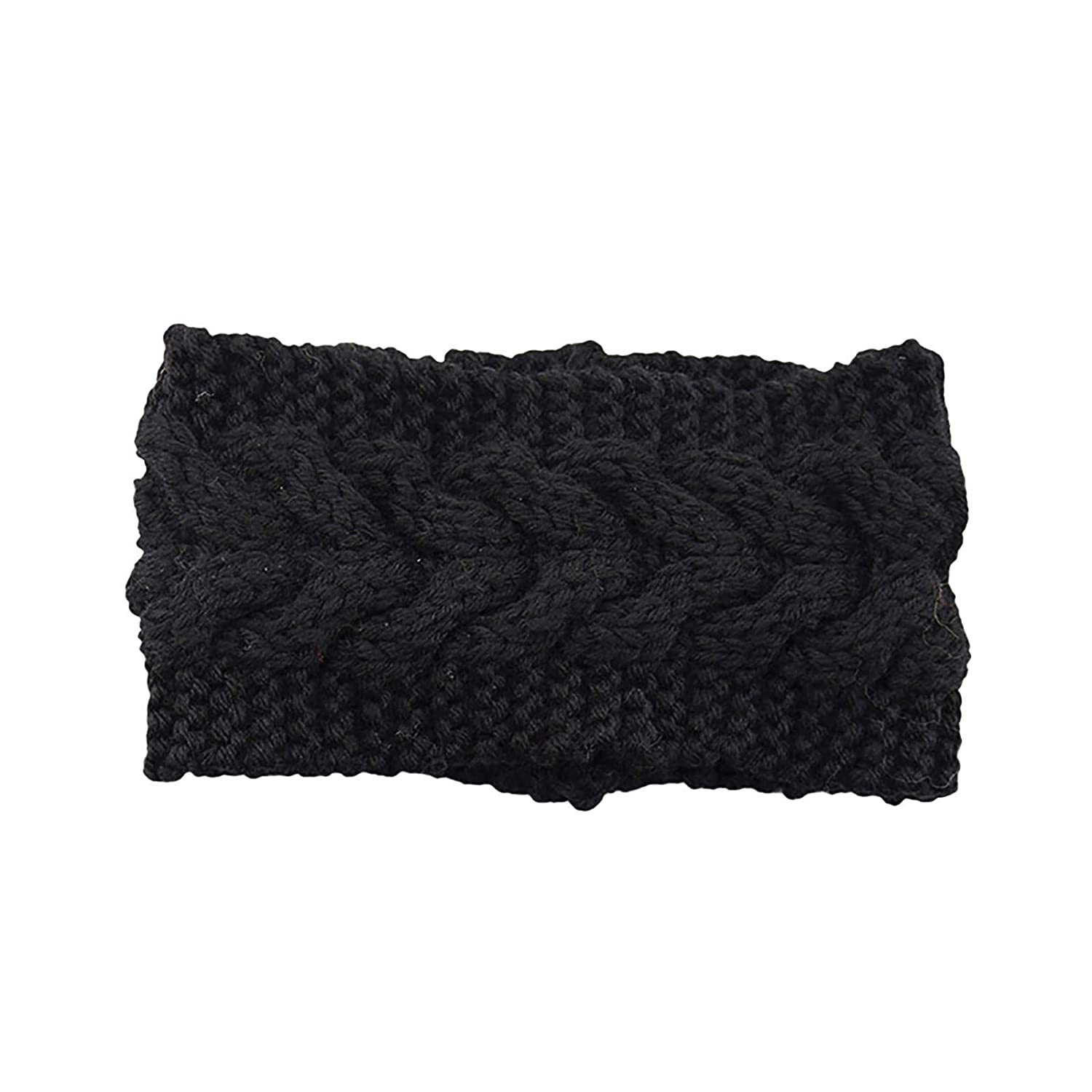 Knotted Headbands For Women Unisex Elastic Knitted Thermal Head Hairband Sweet Girls Sport Hair Bands For Girls Criss Cross Turban Plain Headwrap Yoga Workout Vintage Hair Accessories