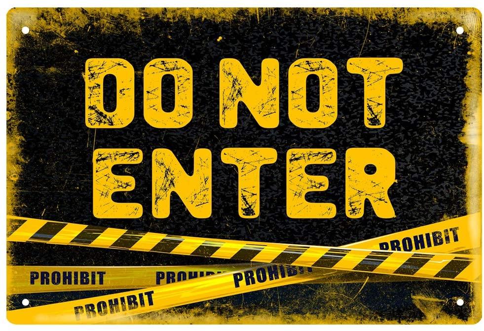 MUATOO Do Not Enter Metal Tin Sign Retro Plaque Poster for Wall Decor 8x12 Inch