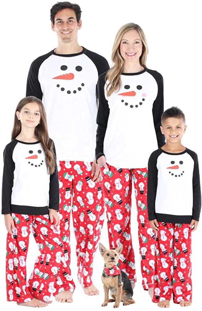 Our Family Pjs Matching Family Christmas Pajama Sets, Fleece Snowman