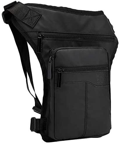 lliang Waist Pack Motorcycle Hip Belt Waist Fanny Pack Riding Travel Shoulder Messenger Cross Body Bags Oxford Cloth Men Thigh Drop Leg Bag