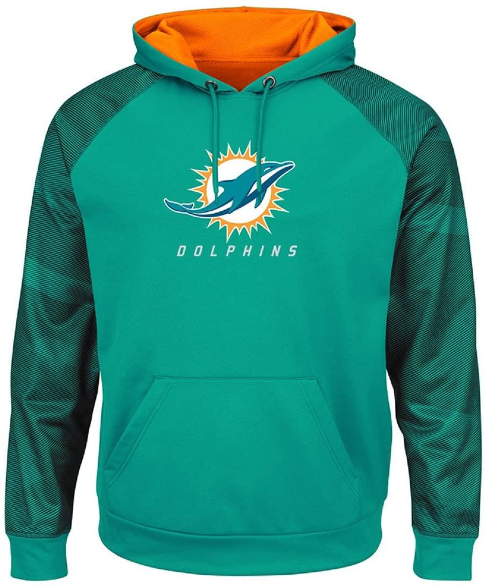 VF Miami Dolphins Aqua Armor II Synthetic Therma Base Hooded Sweatshirt Hoody (M)