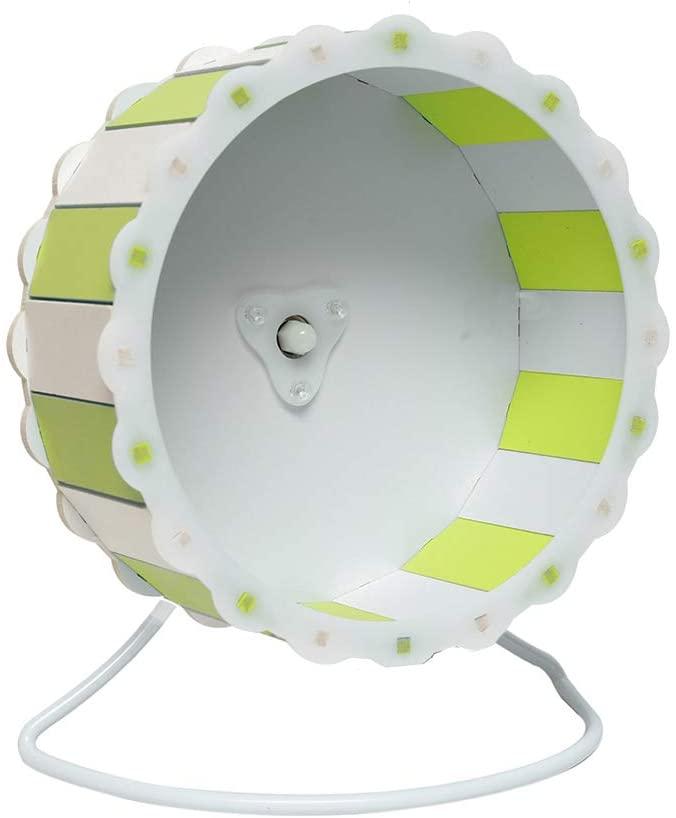 Petzilla Quiet Hamster Exercise Wheel Silent Spinner, Made of Wood, Sunflower Design