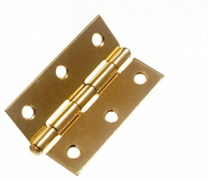 100 Pairs of Door Loose PIN Butt Hinges EB Brass Plated 75MM (3 inch)