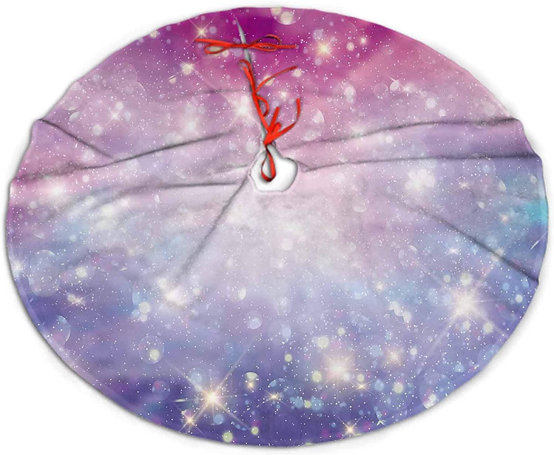 SoSung Christmas Tree Skirt Galaxy Fantasy Tree Skirt for Christmas Decorations 30