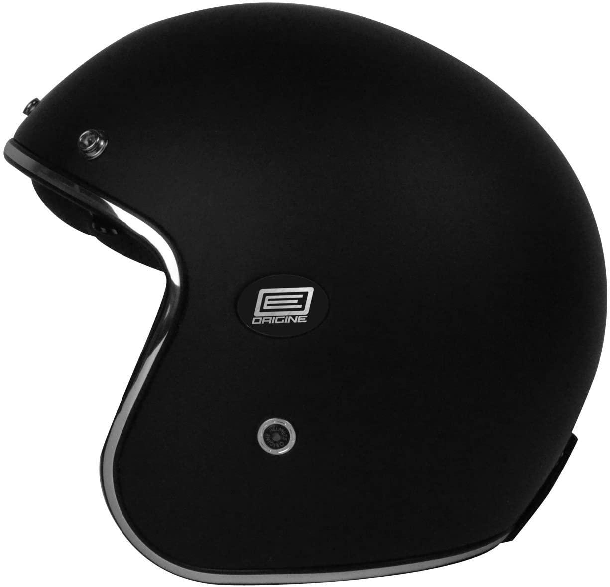 Origine Helmets 202587020100102 Sirio Solid Flat Jet Helmet Carbon Fiber, Black, XS