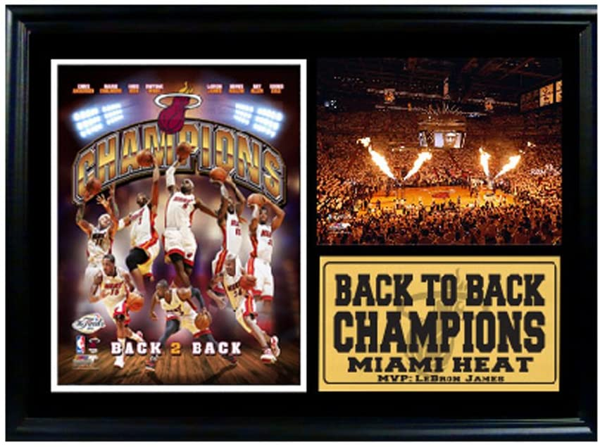 Encore Select 127-20 NBA Miami Heat Framed 2013 Champions 2nd Consecutive Championship Print, 12-Inch by 18-Inch