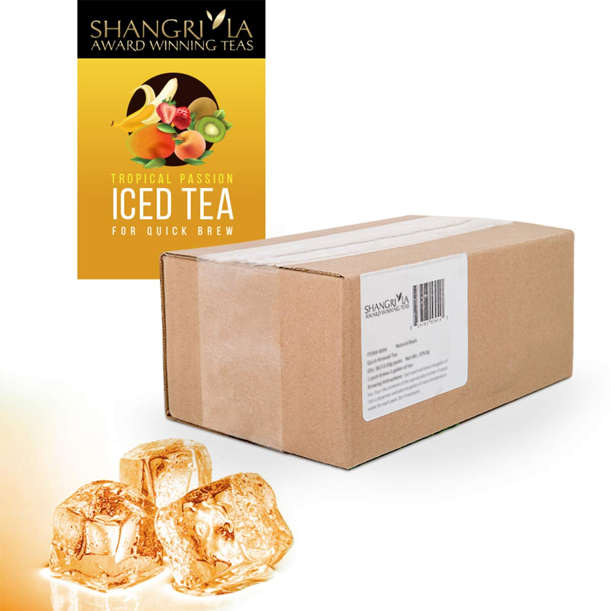 Shangri-La Tea Company Quick Brewed Iced Tea, Tropical Passion Green, Box of 30 Packs, 120 Quarts, 13 Ounce (Pack of 1)
