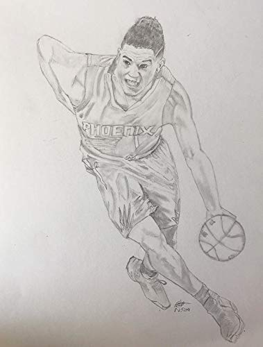 Devin Booker Poster Print, Basketball Player, Devin Booker Decor, Canvas Art, Posters for Wall, Real Player