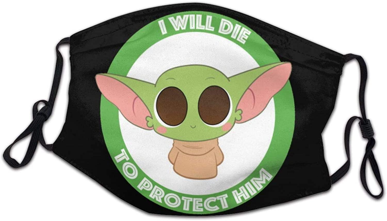 Master-Baby-Yoda-Darth-Vader-Star-Wars Child Kids Teenager Mask with Filter Masks Anti UV Health Dust Masks Suit for Hospital Black