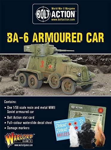 Warlord Games Wgb-ri-113, Soviet Ba-6 Armoured Car, Bolt Action Wargaming Models