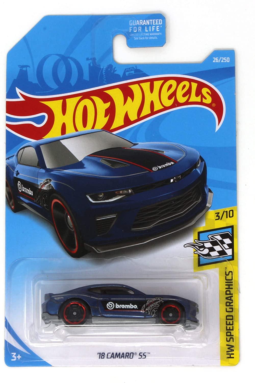 Hot Wheels 2019 HW Speed Graphics '18 Camaro SS 26/250, Blue