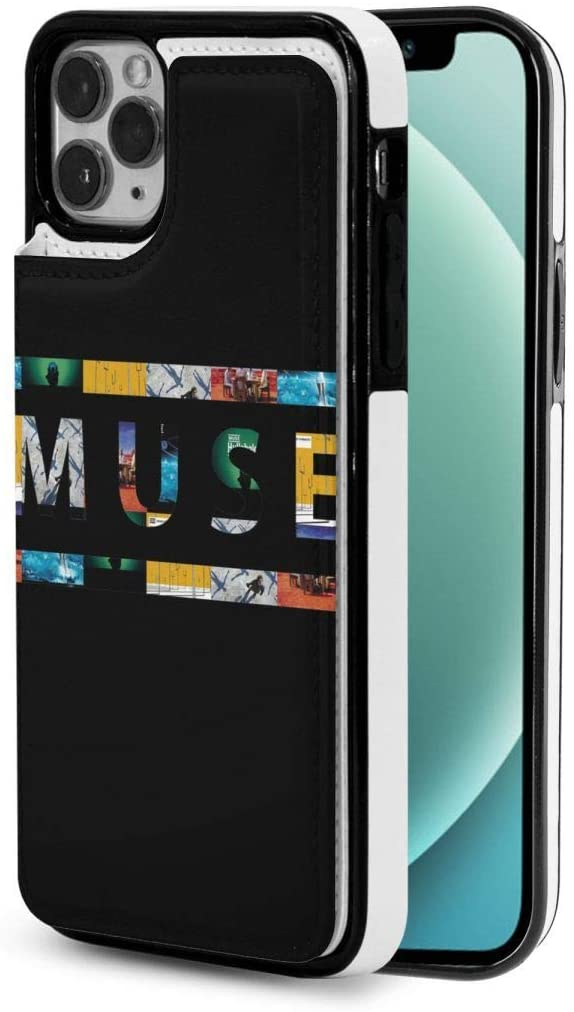 Muse Logo Flip Phone Case with Drop-Resistant Leather Wallet for Iphone12mini