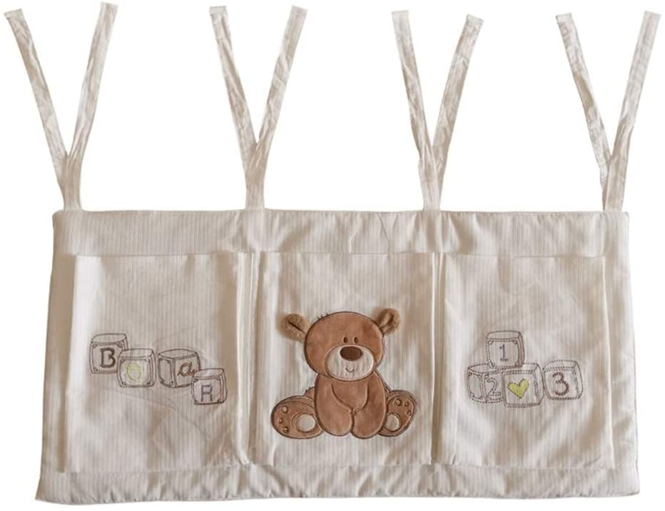 WLPOY Hanging Diaper Caddy Nursery Organizer for Clothing Diapers Toys Hanging Storage Bag 3 Pockets Bedside Caddy Baby Diaper Hanging Organizer (Color : Picture Color, Size : 32X68CM)