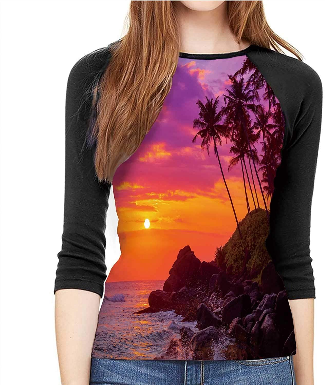 C COABALLA Varadero,Women's Shirt 3/4 Sleeve Casual Tops Tee S-XXL Cuba September 11 S