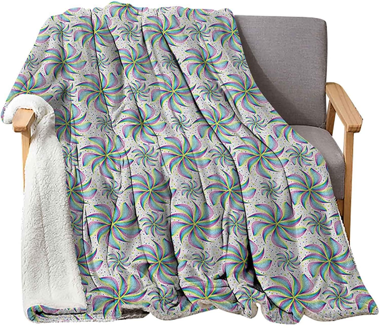 Interestlee Abstract Feaux Fur Blankets 60