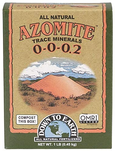 Down to Earth Organic White Azomite Powder for Improving Plant Growth 0-0-0.2, 1 lb