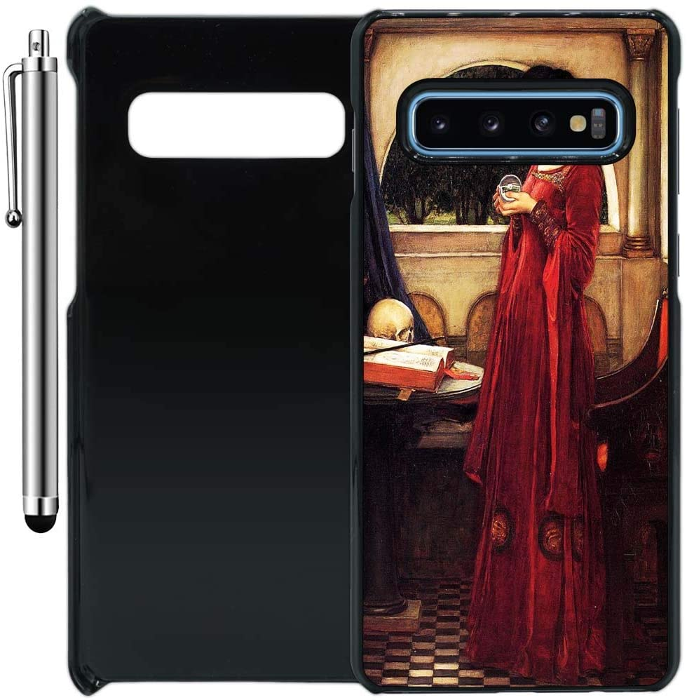 Custom Case Compatible with Galaxy S10 (Crystal Ball Gothic Painting) Plastic Black Cover Ultra Slim | Lightweight | Includes Stylus Pen by Innosub