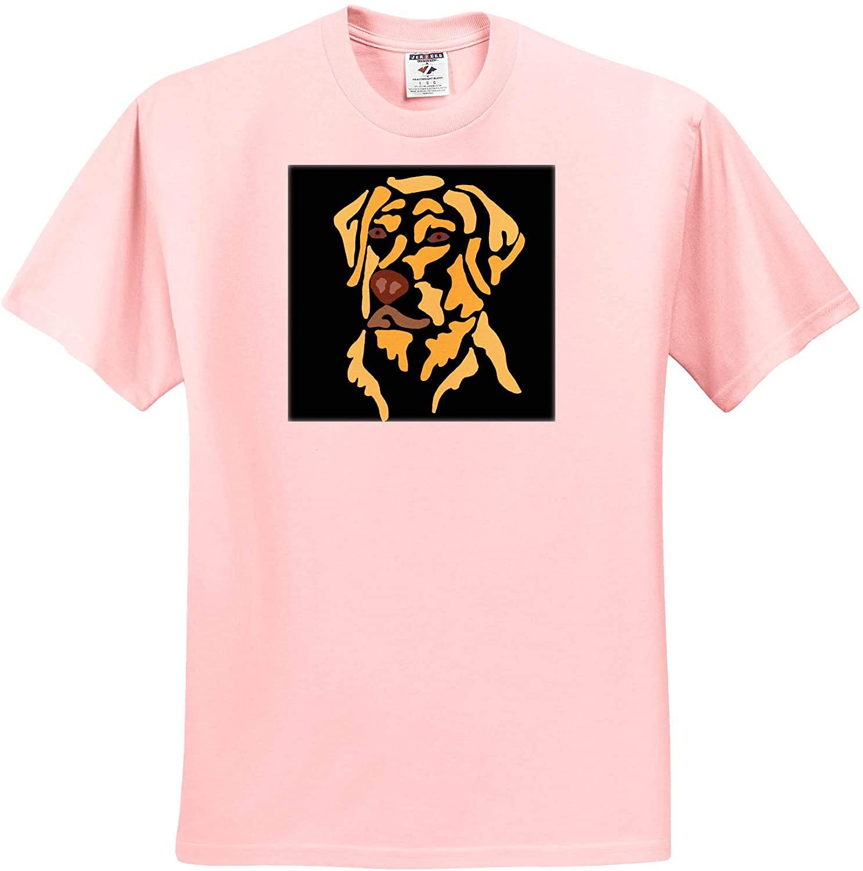 3dRose Funny Cute Yellow Labrador Retriever Puppy Dog Abstract Art - T-Shirts (ts_328005)