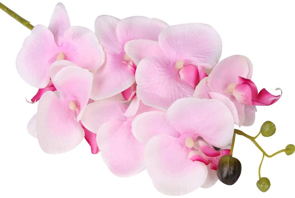 alignmentpai 1Pc Artificial Flower Butterfly Pattern Orchid DIY Craft for Wedding Party Desktop Furniture Decor Light Pink